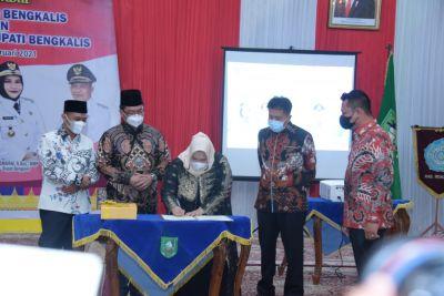 Ketua DPRD H. Khairul Umam Hadiri Sertijab Bupati dan Wakil Bupati Bengkalis