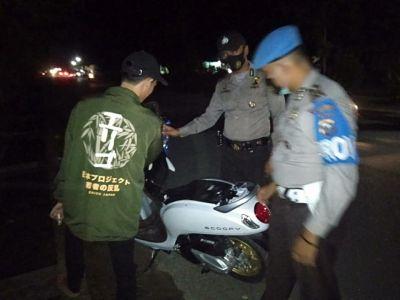 Patroli Malam Antisipasi 3C Di Wilayah Hukum Polsek TPTM Rohil