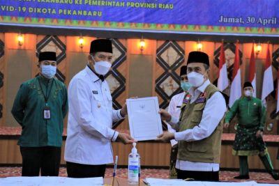 Pemko Pekanbaru Resmi Lakukan Serah Terima Aset dengan Pemprov Riau