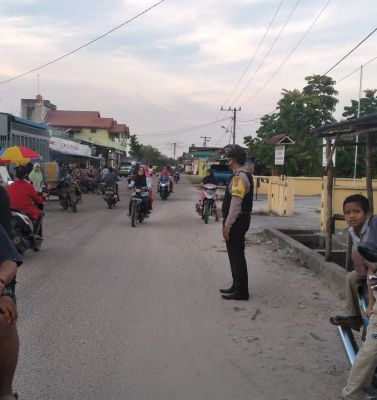 Polsek TPTM Rohil Laksanakan Pengamanan Kegiatan Bazar Ramadhan