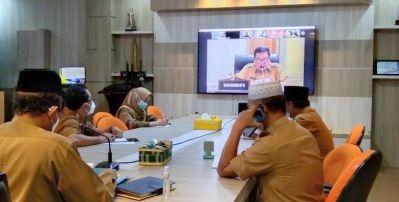 Sekda Arfan Ikuti FGD Virtual Grand Design Riau Digital 2021-2025