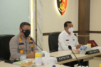 Wako dan Kapolda Riau Komitmen Optimalkan Penanganan Covid-19